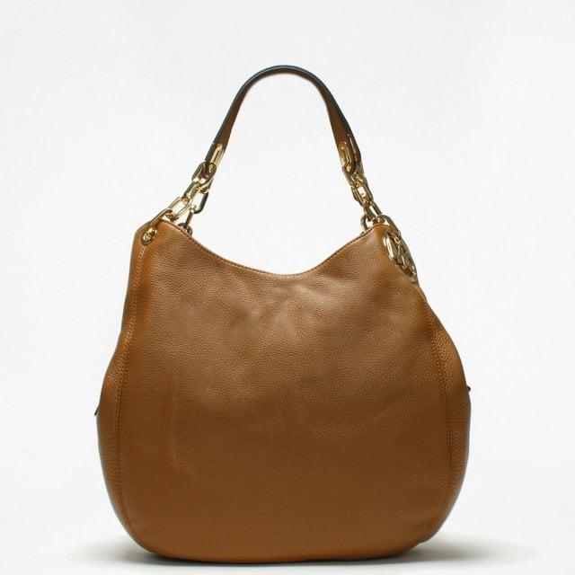 ef417e47bce0c2 Michael Kors Large Fulton Acorn Leather Shoulder Tote Bag in Brown ...