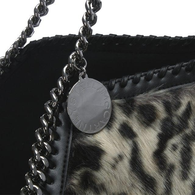 b4ca62ab3324 Stella McCartney Falabella Faux Fur Leopard Reversible Tote Bag in ...