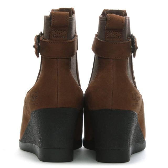 717a14e82ef6 Lyst - UGG Indra Stout Leather Wedge Chelsea Boots in Brown