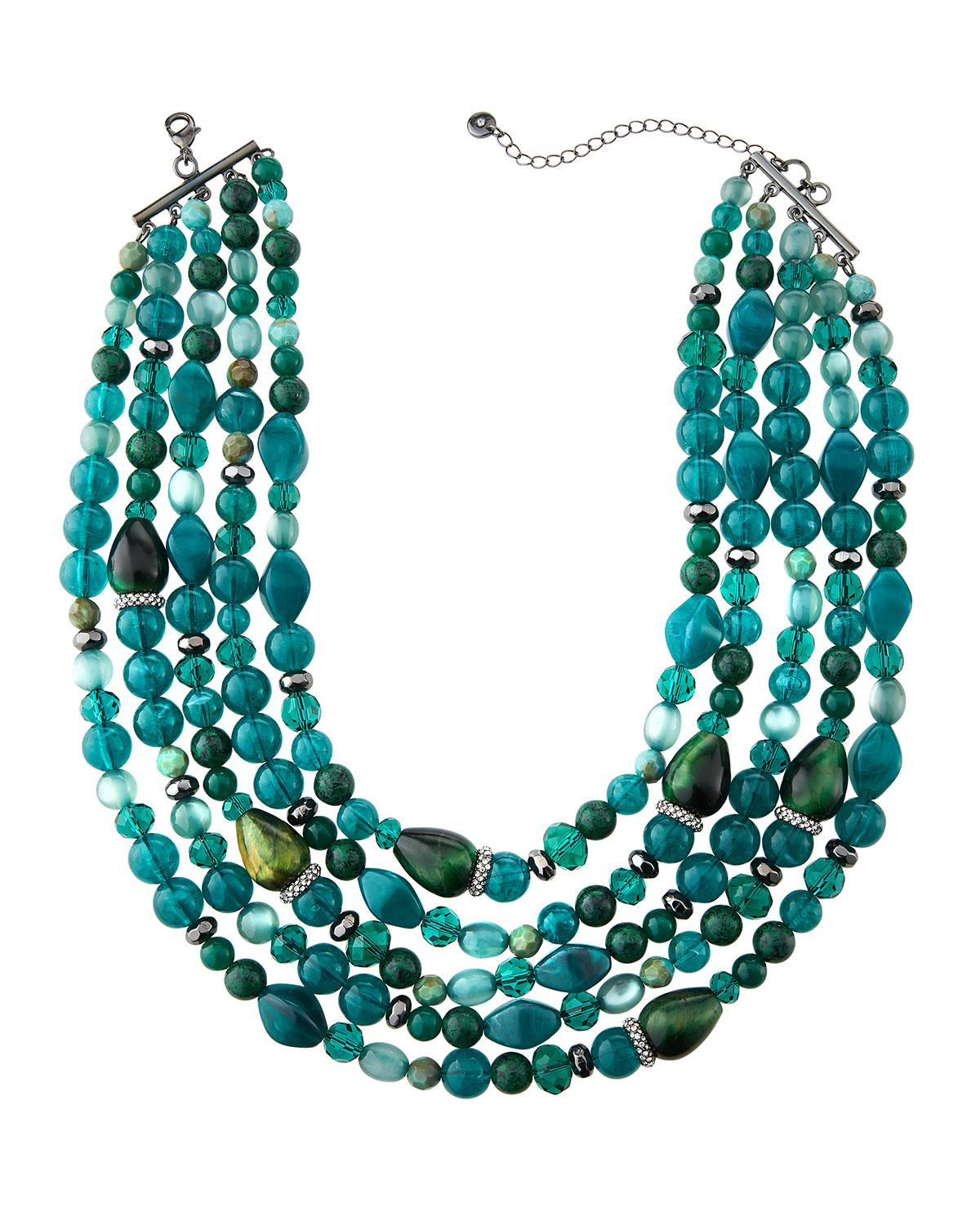 Lydell Nyc Long Single-Strand Beaded Necklace cZTDk
