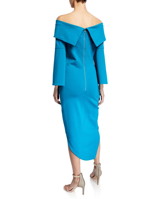 42bcaefad35d Lyst - Elliatt Spark Off-the-shoulder Asymmetric Dress in Blue