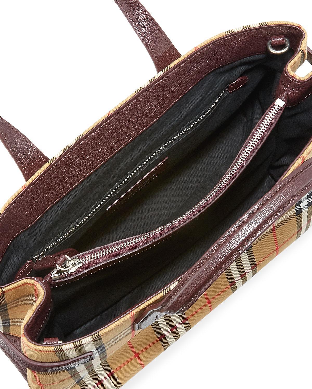 db6cd2dc29a9 Lyst - Burberry Check Medium Tote Bag in Brown