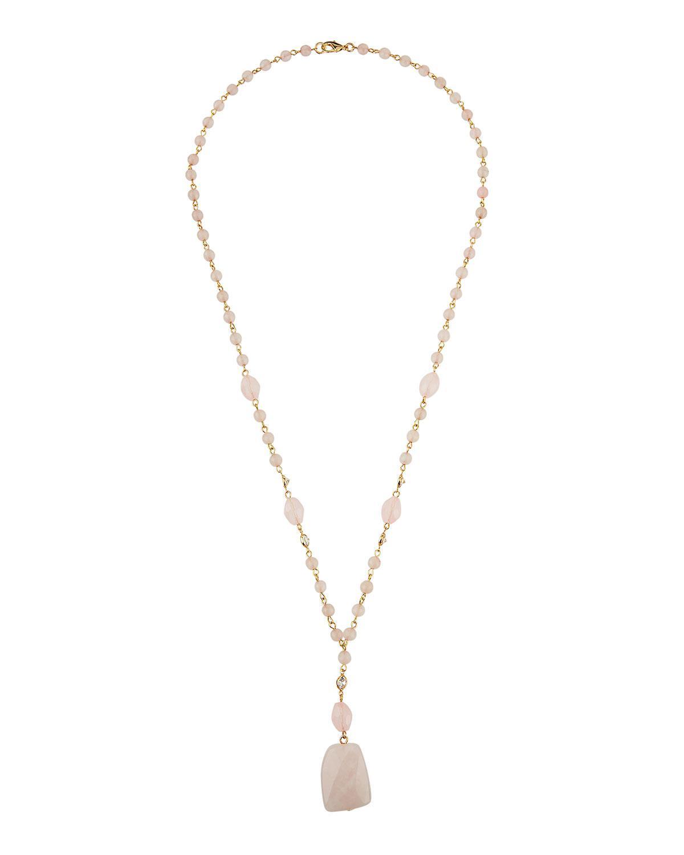 Fragments Crystal Pendant Necklace 1RtSi