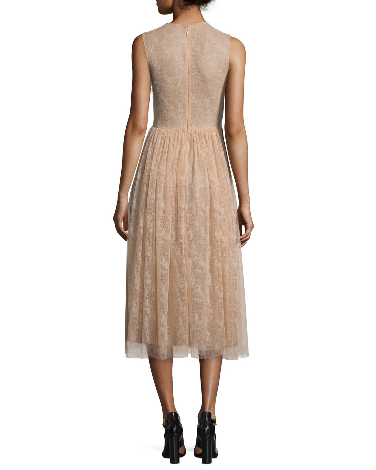 04496ee3345 Lyst - Jason Wu Sleeveless Abstract Lace Dress in Brown