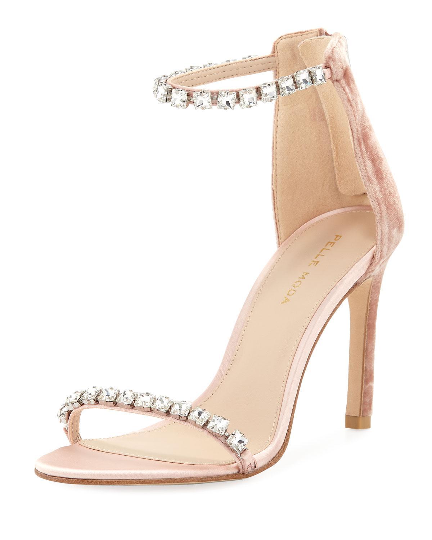 188f32931ed Pelle moda womens frisk jeweled velvet satin high heel dressy sandals jpg  1200x1500 Dressy high heels