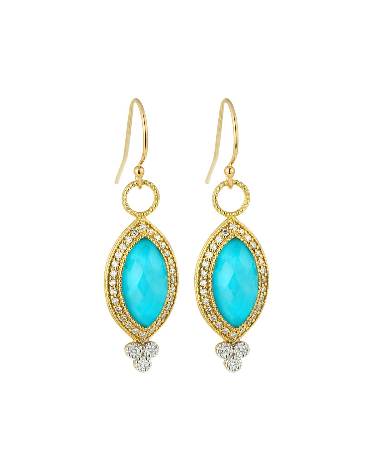 Jude Frances Lisse 18K Dangle/Drop Earrings with Turquoise 57cTj9E