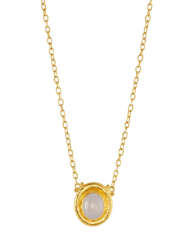 Gurhan Muse Chalcedony Pendant Necklace, Aqua