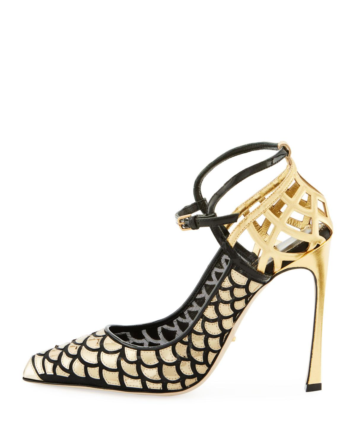 Sergio Rossi Cutout Slingback Pumps 2014 new online perfect for sale buy cheap finishline gQpLUIUfU