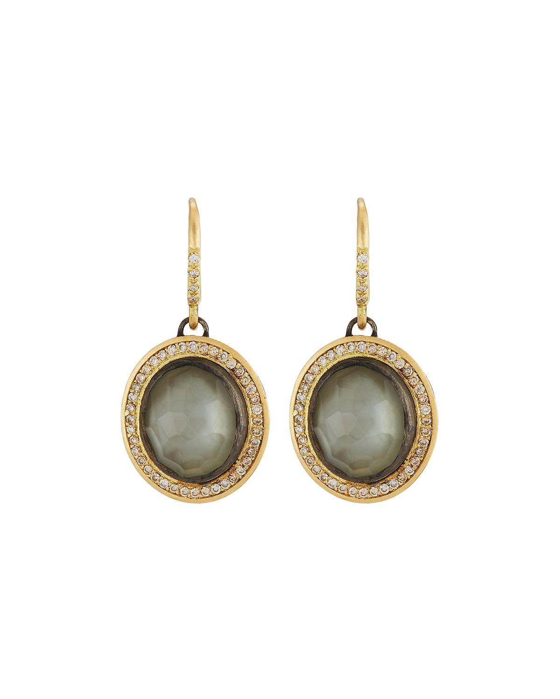 Armenta Old World Triplet Oval Drop Earrings xofUT