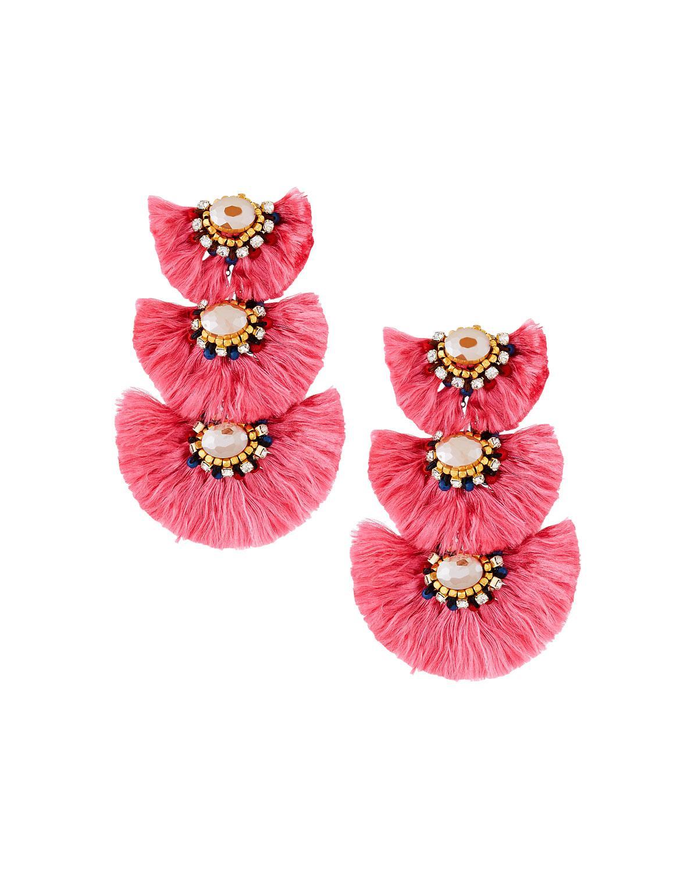 Nakamol Triple-Drop Fringe Earrings xor4SrauR