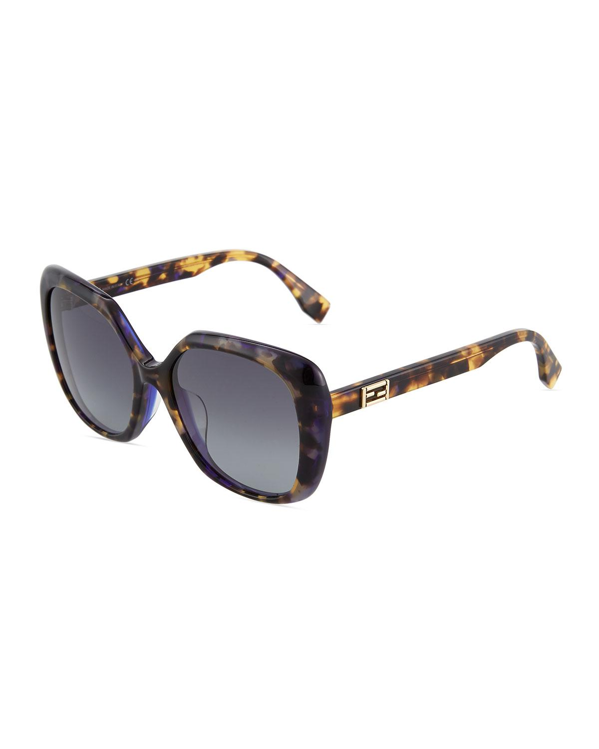 af95700a65 Lyst - Fendi Butterfly Plastic Sunglasses in Blue