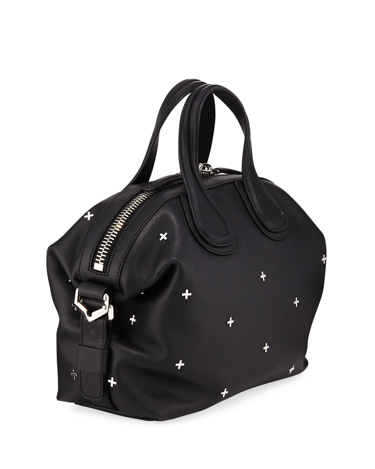 f5ba3c2ffc53 Lyst - Givenchy Nightingale Small Studded Leather Satchel Bag in Black
