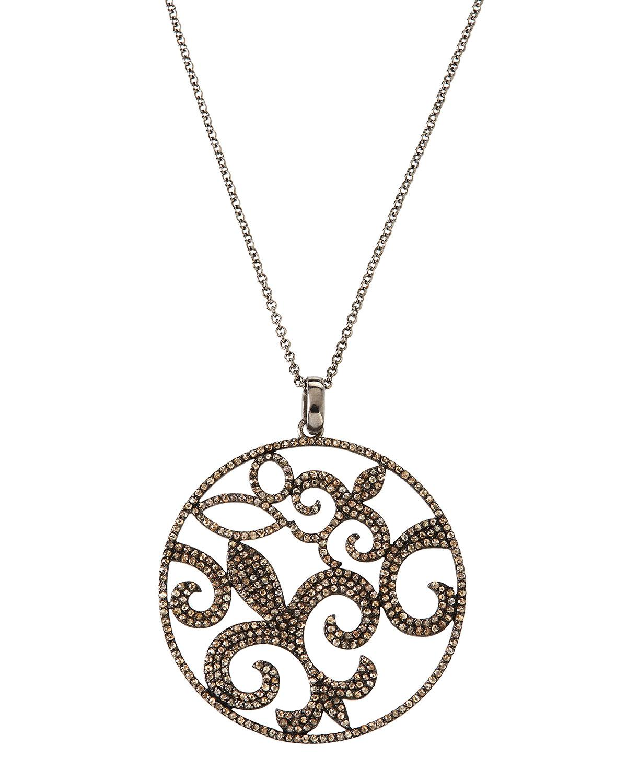 Bavna Diamond Fleur-de-Lis Pendant Necklace G75IG