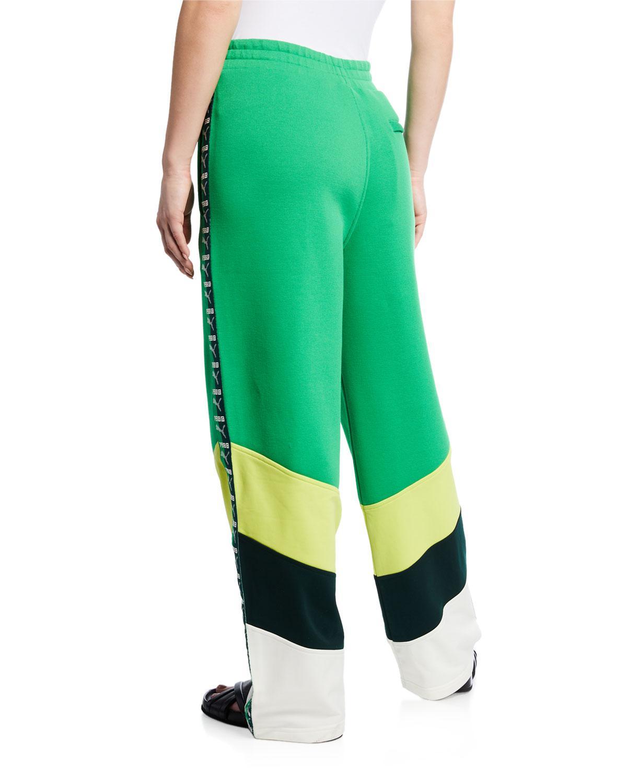 78fd2cf209cc Lyst - PUMA Logo Stripe Colorblock Track Pants in Green