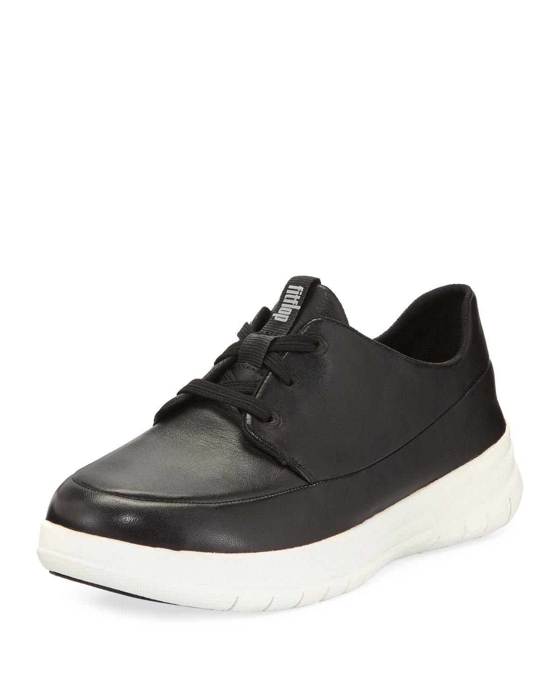 94bf3af8492d1 Lyst - Fitflop Sporty Pop Leather Sneaker in Black for Men