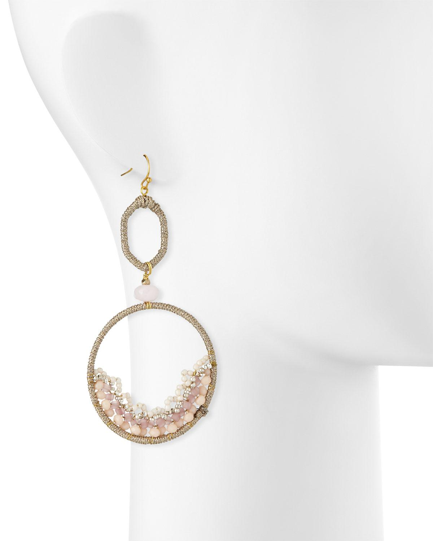 Nakamol Open Bead & Feather Dangle Earrings 637z3H