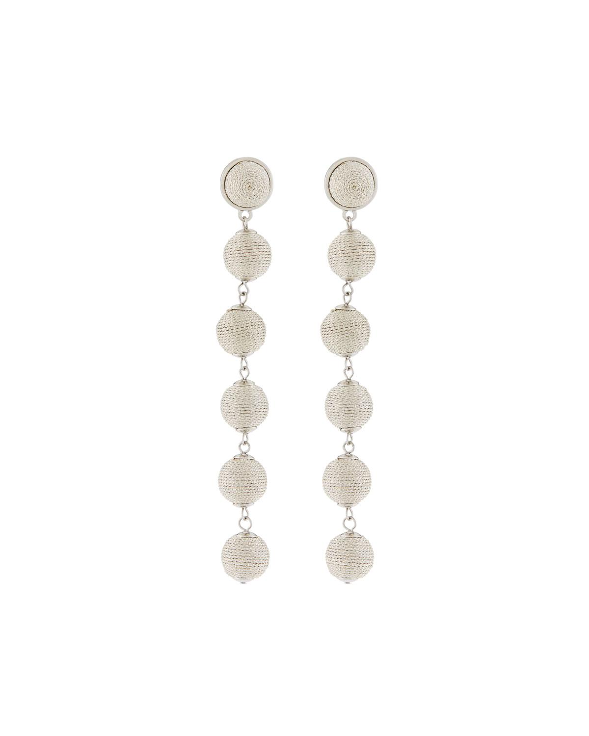 Lydell Nyc Thread-Wrapped Sphere Dangle Earrings Vp4Qo