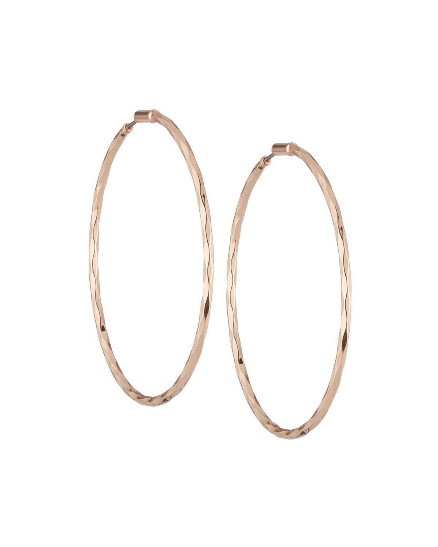 Lydell Nyc Women S Metallic Rose Golden Hoop Earrings