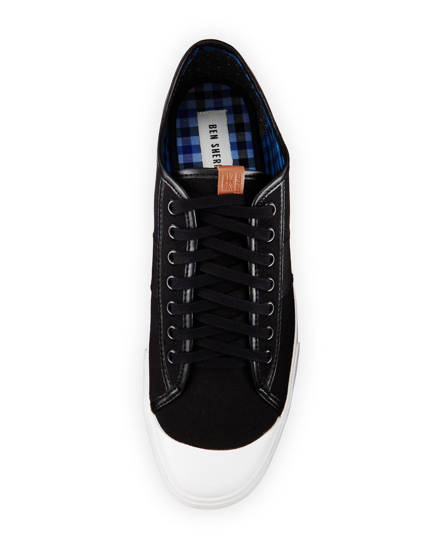 ben sherman earl lo canvas sneaker in black for men lyst