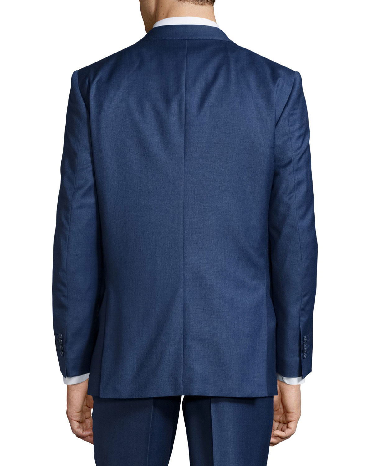 neiman modern wool two suit in blue for