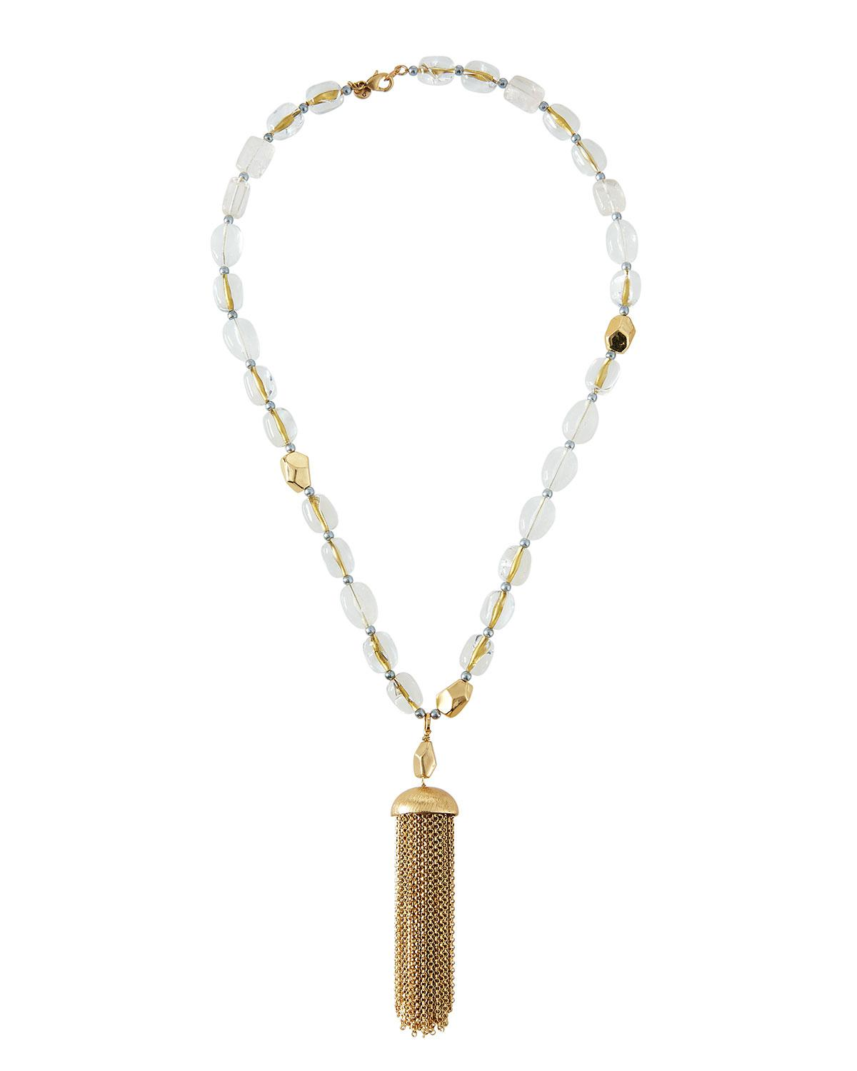 Lydell Nyc Statement Tassel Necklace F8GOU