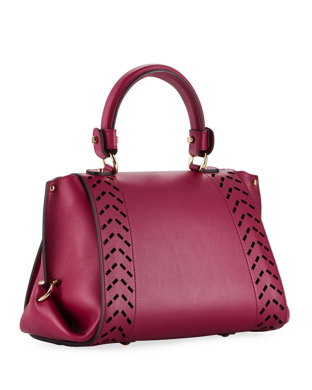 313d122b0d Ferragamo - Sofia Small Perforated Satchel Bag Pink - Lyst. View fullscreen