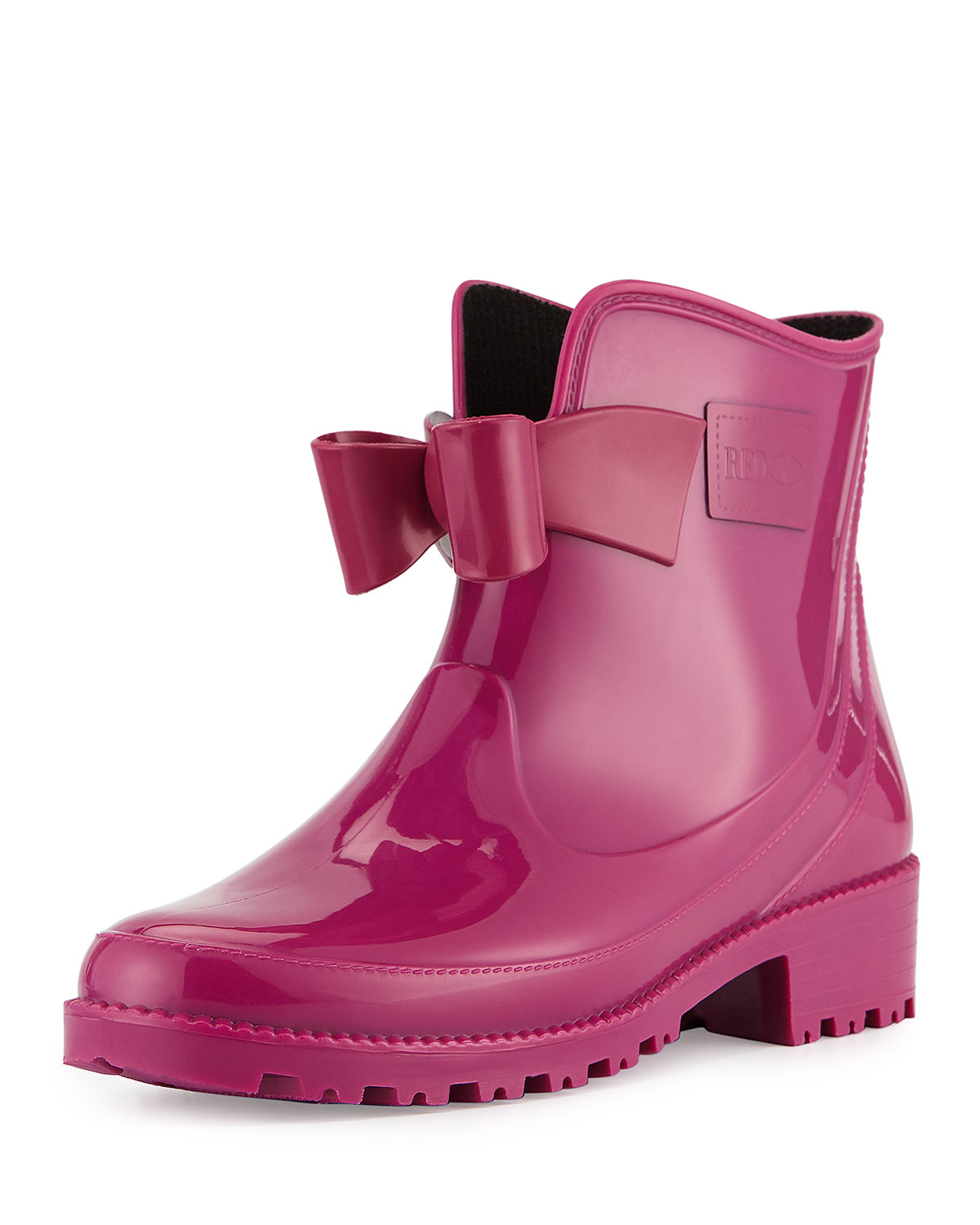 Lyst Red Valentino Bow Rubber Short Rain Boot In Pink