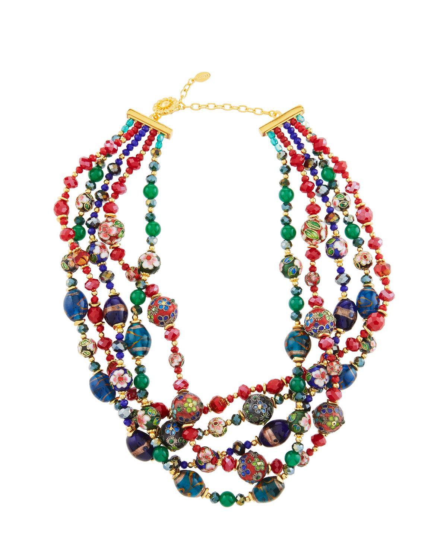 Jose & Maria Barrera Mixed Pastel Twist Necklace h0Br1Aj5AC