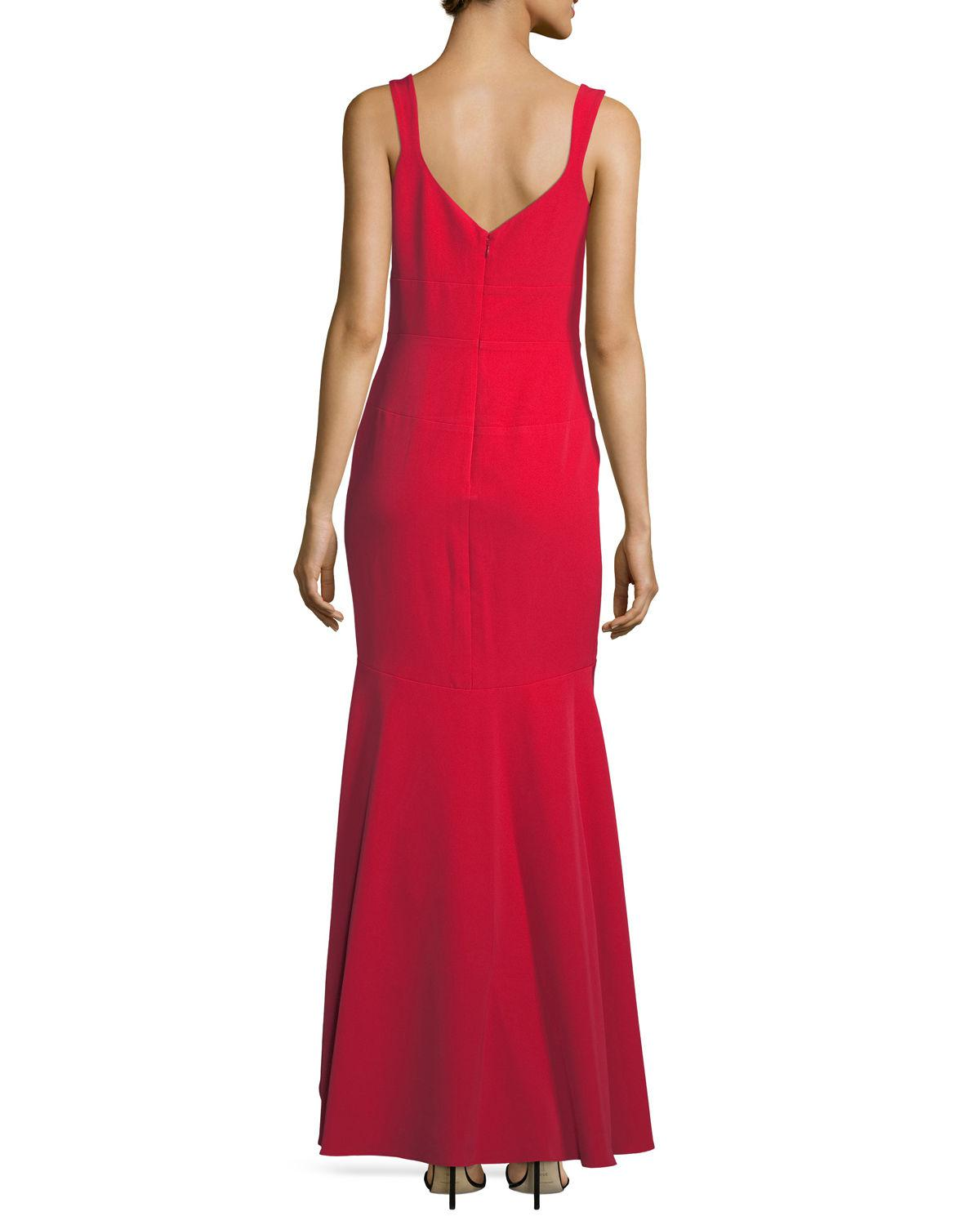 Lyst - Nicole Miller High-low Trumpet Evening Gown in Blue
