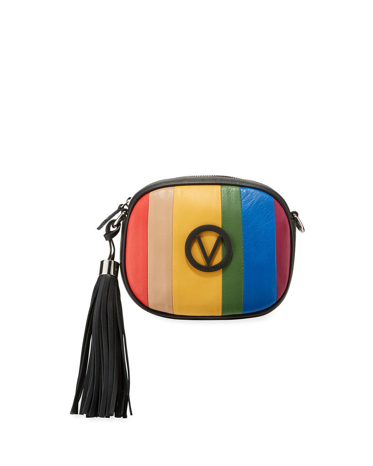6211c67d9f2 Valentino By Mario Valentino Nina Rainbow Leather Crossbody Bag in ...