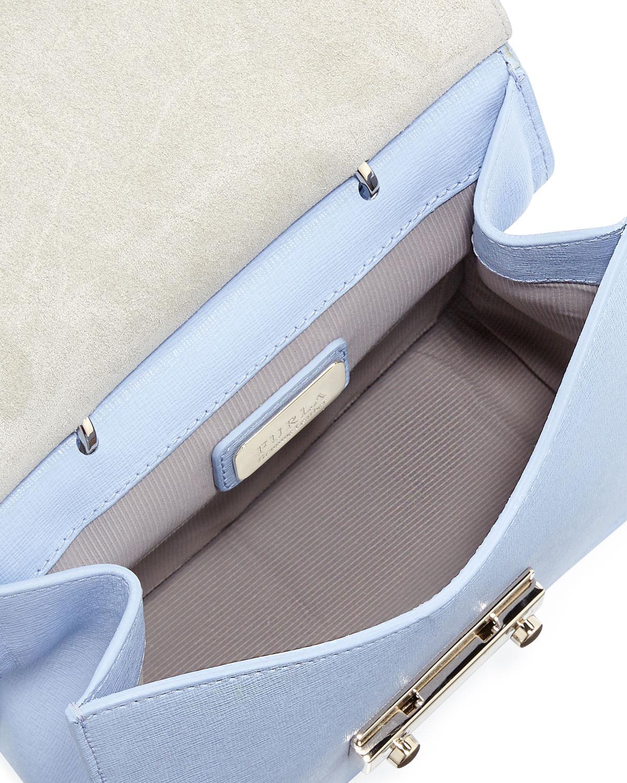 41b1672de3dc Furla Julia Mini Top Handle Crossbody Bag in Blue - Lyst