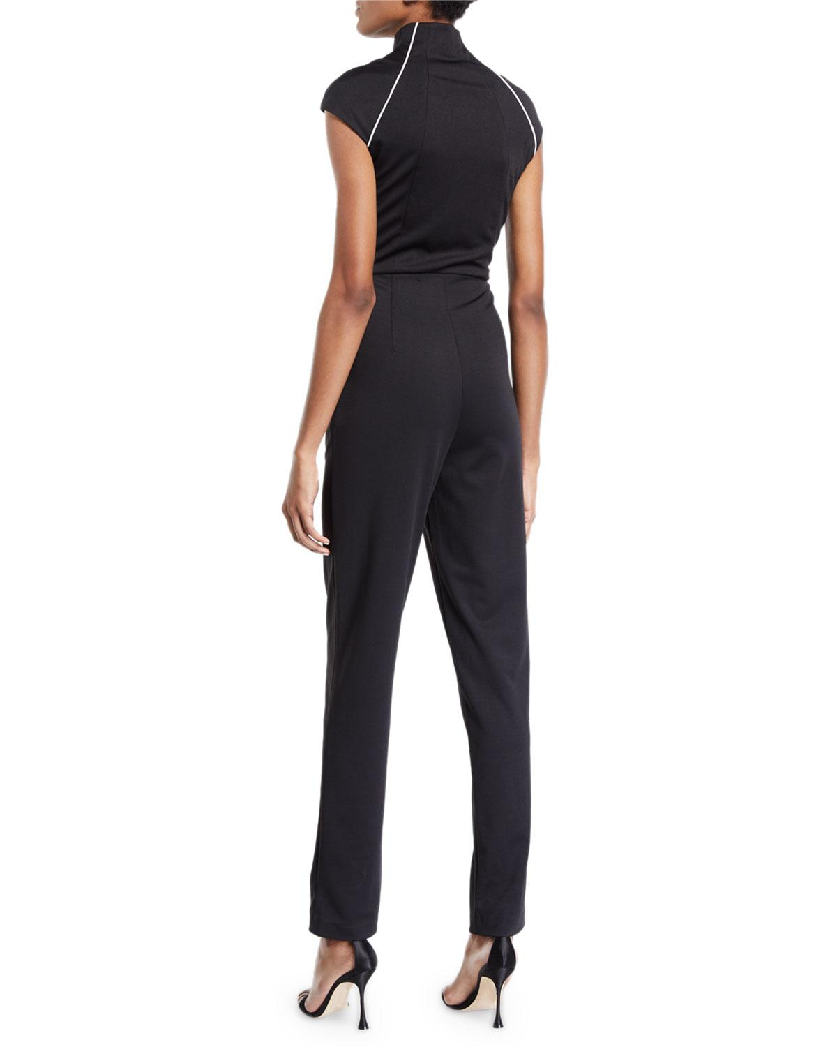 bc679929d77 Lyst - Alexia Admor Military-neck Jumpsuit in Black