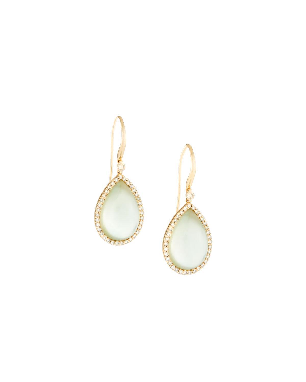 Roberto Coin 18k Prasiolite & Diamond Drop Earrings JWKCpe