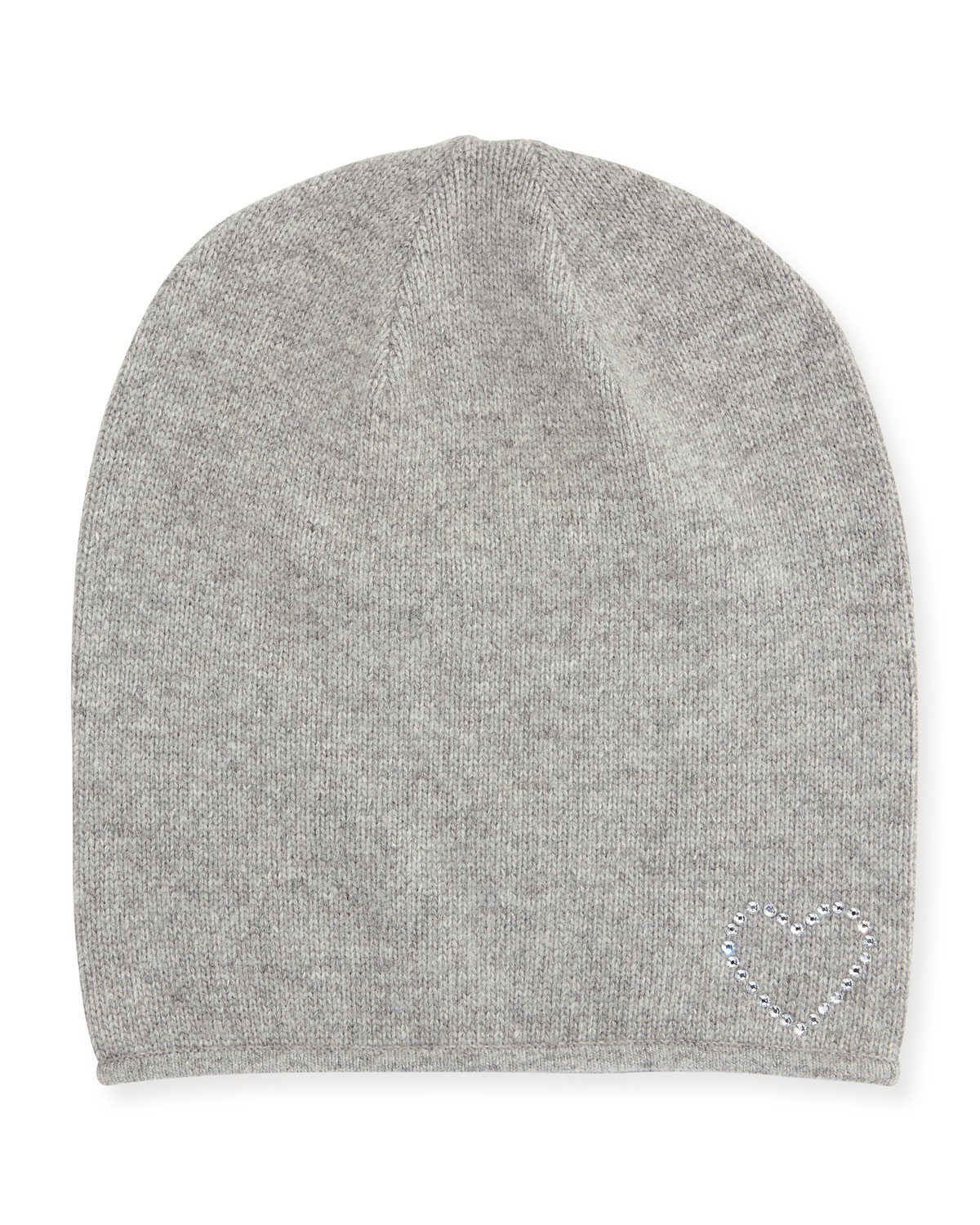 3a89371d1 Portolano - Gray Wool-blend Crystal Heart Slouchy Hat - Lyst