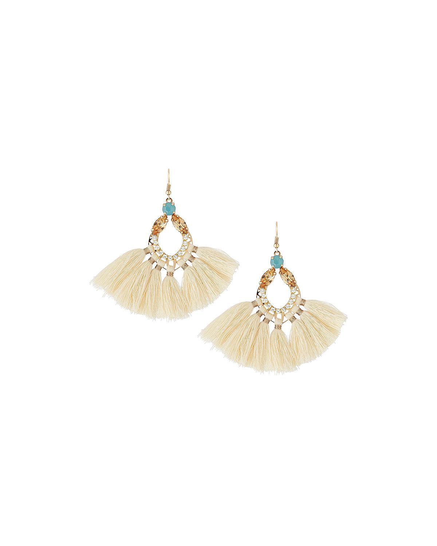 Panacea Open Crystal Fringe Drop Earrings vi86eOzc