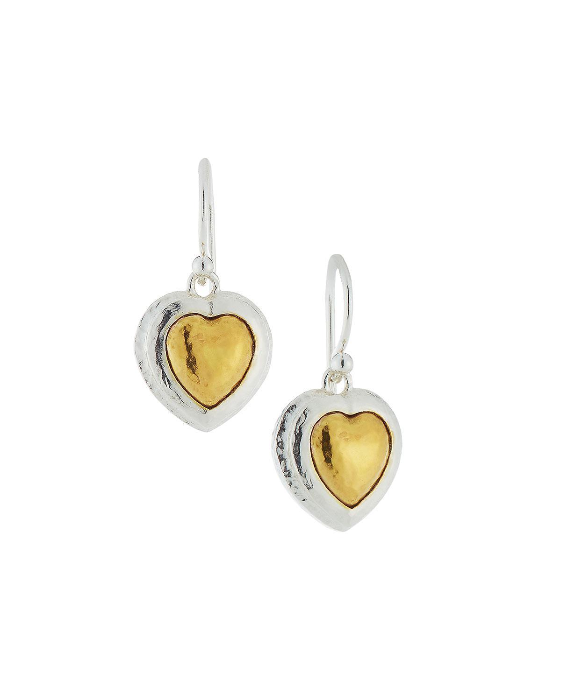 Gurhan Romance Rhodolite Garnet Heart Stud Earrings wkVB2bpl