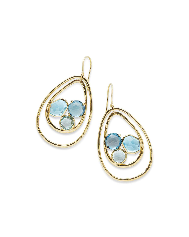 Ippolita 18K Rock Candy Pear-Shaped Wire Earrings in Midnight Rain H9DAfaQbg