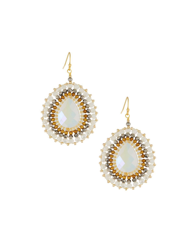 Nakamol Circle Fringe Drop Earrings e8VuOS0rm
