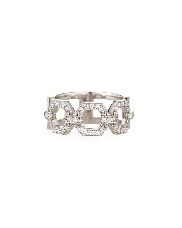 Penny Preville 18k Large Square Link Diamond Cuff Bracelet 4m8UvooTW
