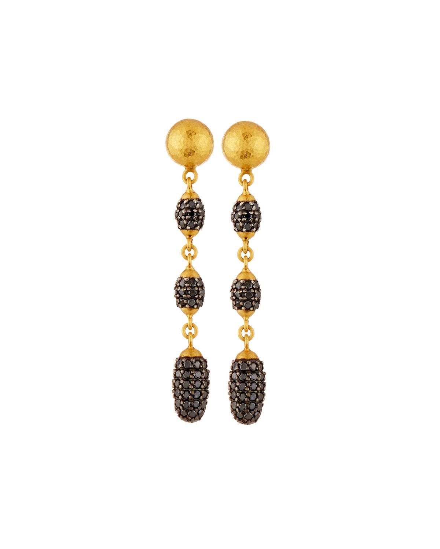 Gurhan 24k Small Cocoon Diamond Pavé Earrings IjVJ3