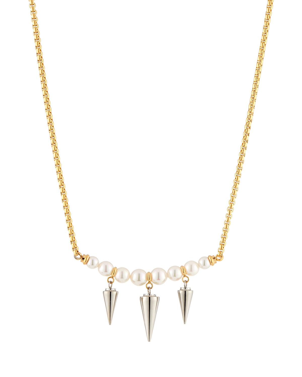 Majorica Spiked Pearl Pendant Necklace