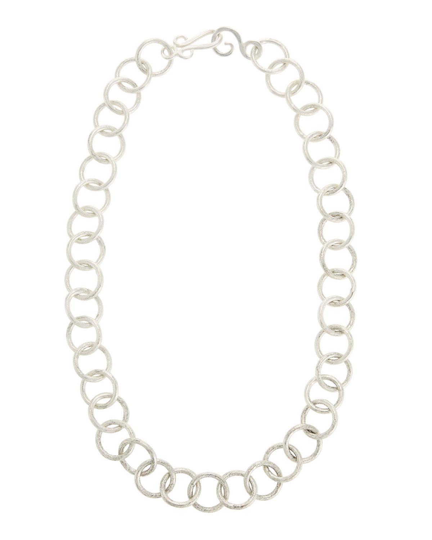 Stephanie Kantis Circle-Link Sterling Silver Necklace JMVVvw