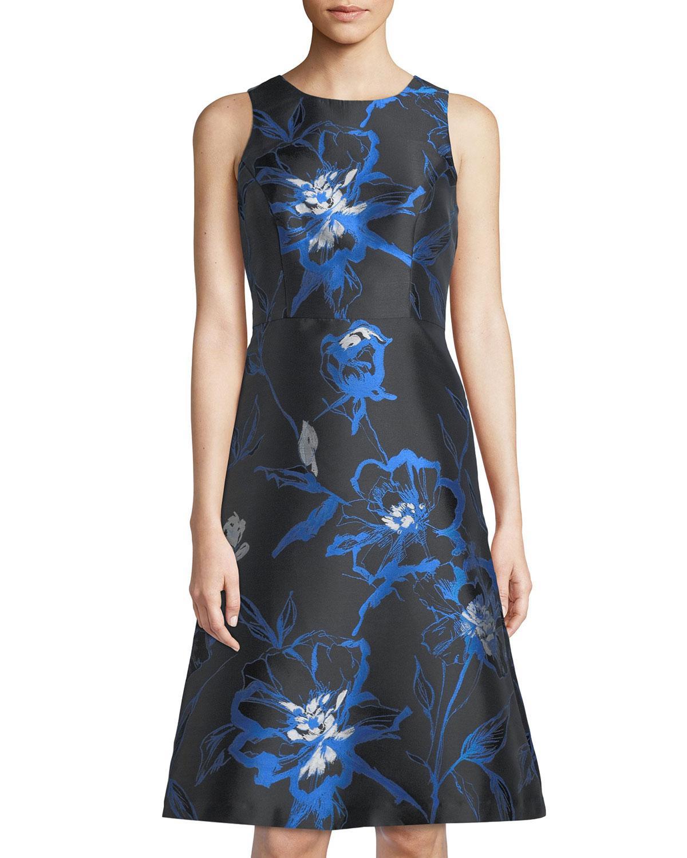 6cf909871d3 Lyst - Shoshanna Bellevue Sleeveless Cocktail Dress in Blue