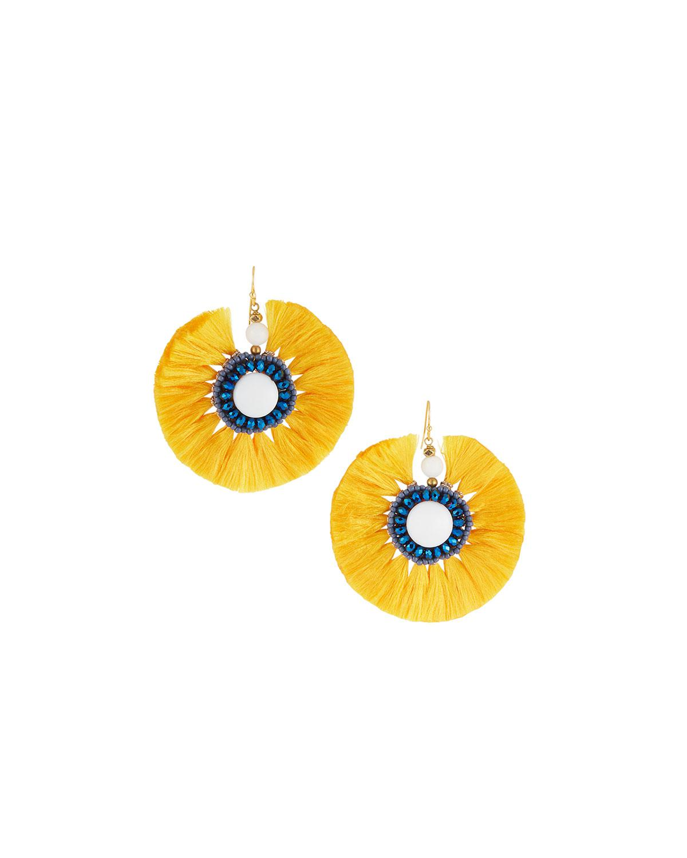 Nakamol Circle Fringe Drop Earrings ZAZ1uoI