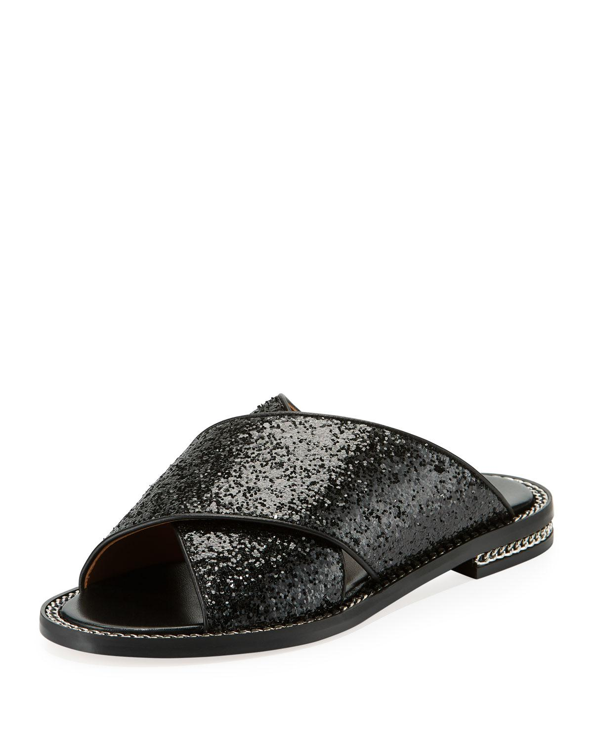 e5de8c99102f5 Lyst - Givenchy Chain-trim Crisscross Flat Sandal in Black for Men