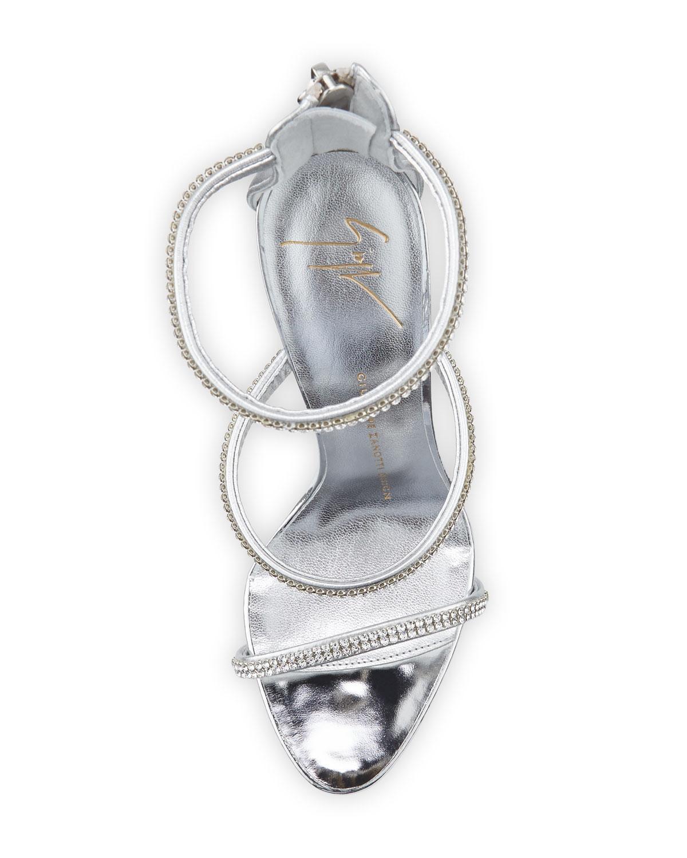 df839ed245186 Lyst - Giuseppe Zanotti Jeweled Three-strap 110mm Sandals Silver in ...