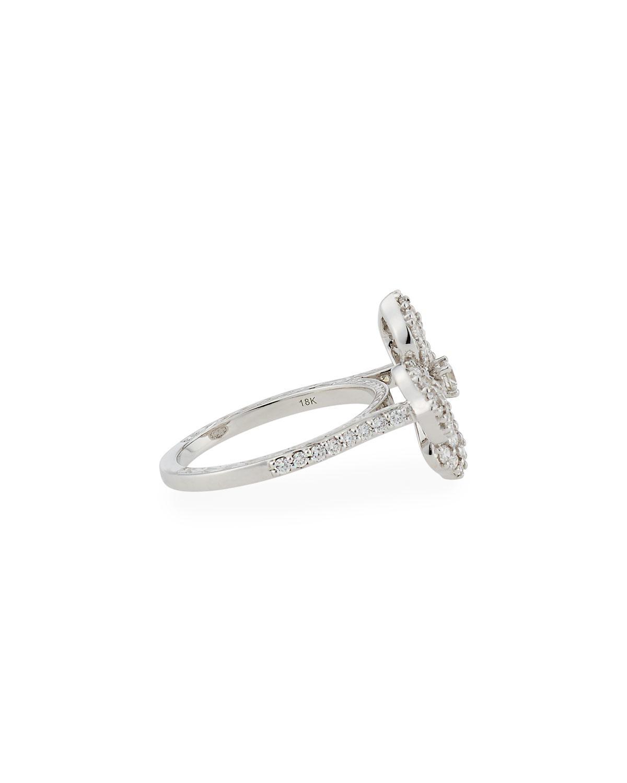Lyst Penny Preville 18k White Gold Pav Diamond Flower Ring In White
