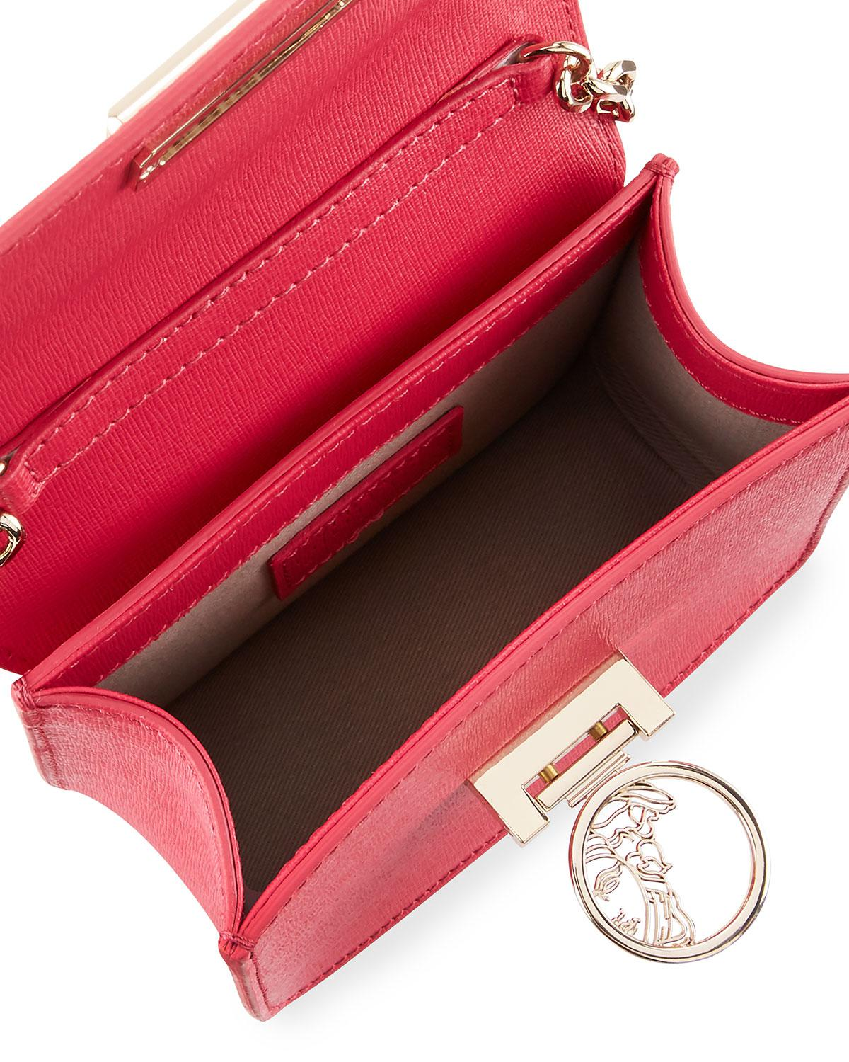 6b3905e8a1d9 Lyst - Versace Small Saffiano Leather Crossbody Bag With Medusa in Pink