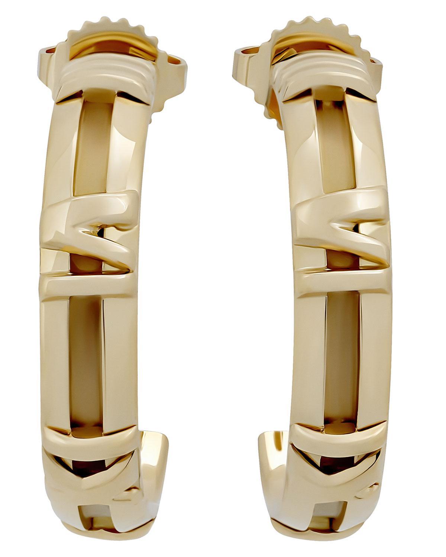 f643c1f0d Tiffany & Co. Estate 18k Gold Atlas Hoop Earrings in Metallic - Lyst