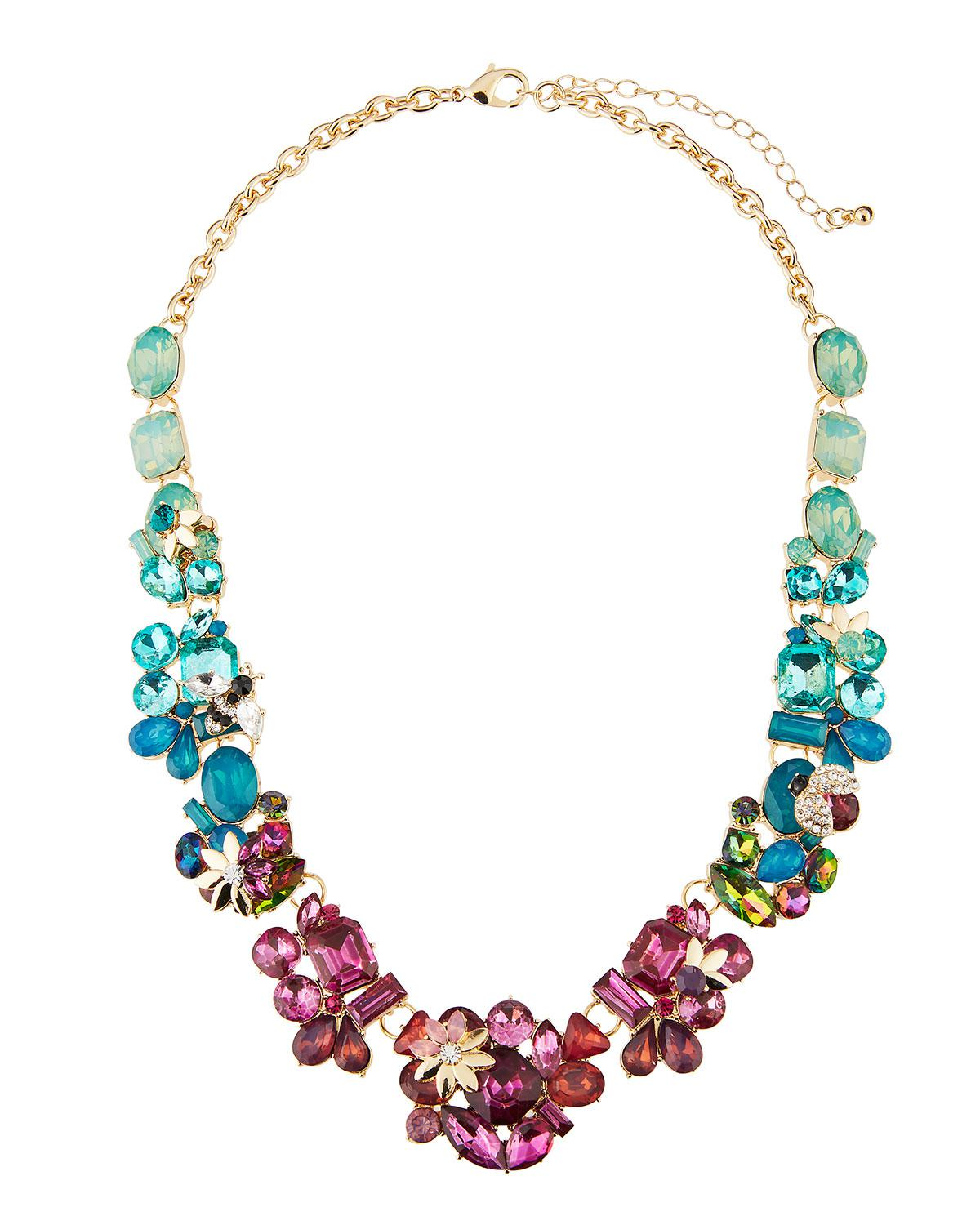 Fragments Multicolor Flower Statement Necklace o92sUC